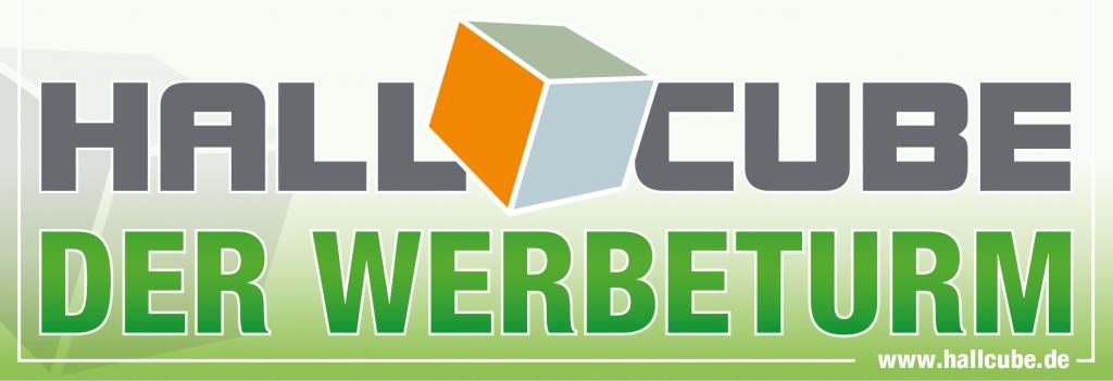 Hallcube Logo + Der Werbeturm